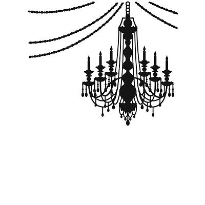 Darice Embossing Folder Hanging  CHANDELIER  Halloween  1218-72 Cardmaking A2