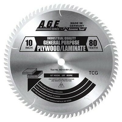 """Amana Tool MD10-800 10"""" x 80 Tooth A.G.E. Cut-Off Crosscut Saw Blade"""