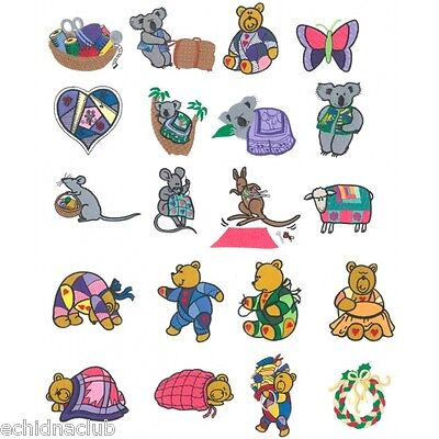 Quilt Karacters Embroidery Designs....20 Embroidery Designs