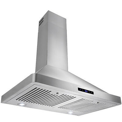 "30"" Stainless Steel Wall Range Hood Kitchen Fan Stove Vent Powerful"