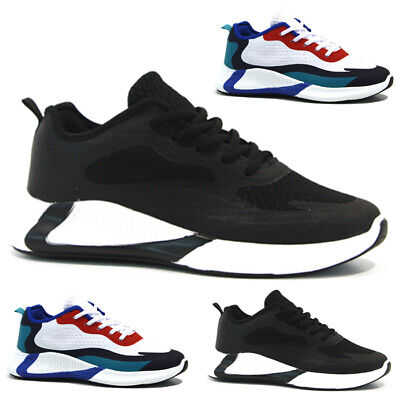 Mens Ladies Running Trainers Casual Lace Running Gym Walking Boys Sports Shoes