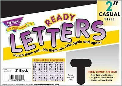 140 Classroom display board ready letters Black 2""