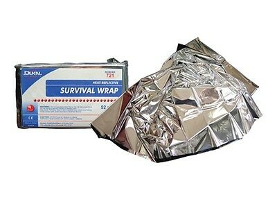Dukal Emergency Survival Wrap Mylar Thermal Body Heat Retention Blanket Packs