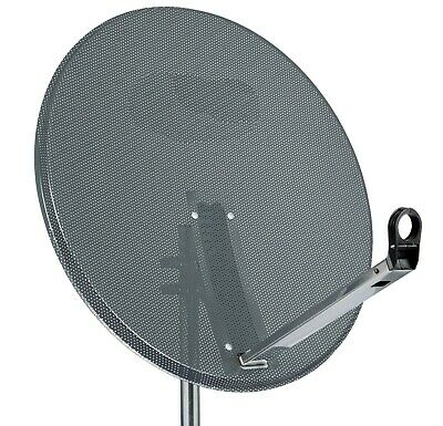 1m Dark Grey Solid Satellite Dish (100 cm) With Backplate & LNB Arm Foreign S97