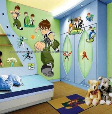 LARGE BEN 10 ALIEN FORCE Wall Stickers Art Decal Kids Boys Room Nursery Deco