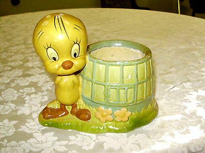 VINTAGE TWEETY BIRD PLANTER compostion like material 1940s?