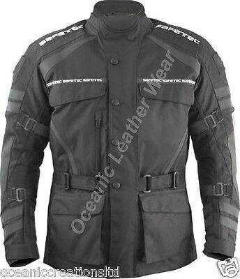 Men's Textile Motorbike Motorcycle Jacket Reissa Waterproof CE Armour Approved