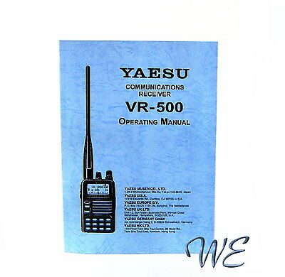 NEW Yaesu VR-500 Operating Manual Book in English