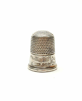 Antique George V Birmingham 1918 925 Sterling Silver SEWING THIMBLE 2.5g