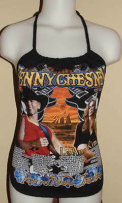 Kenny Chesney LeAnn Rimes Country Music Concert Reconstructed Shirt Halter Top