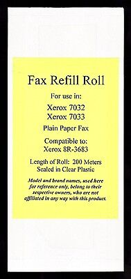 New 8R-3683 Fax Film Refill Roll for Xerox 7032 and 7033