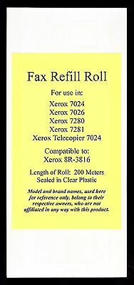 New 8R-3816 Fax Refill Roll for Xerox 7024 7026 7280 7281 and Telecopier 7024