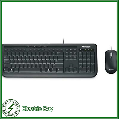 Microsoft 600 Wired Keyboard and Mouse Combo for Desktop Laptop Office USB MAC