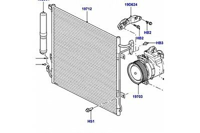 landrover discovery 3 air conditioning radiator discovery 3 condensor lr018403