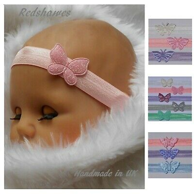 Polka Dot Butterfly Loop Headband- Different sizes & colours available