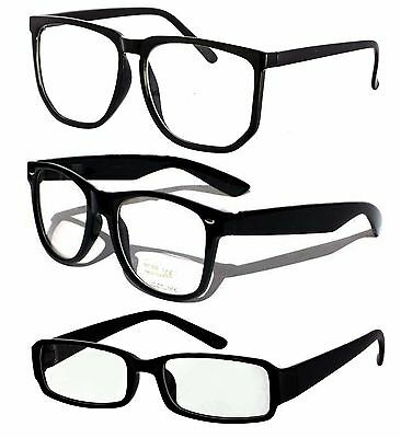Geek Clear lens Glasses Wayferer Square styles Fancy dress party costume Vintage