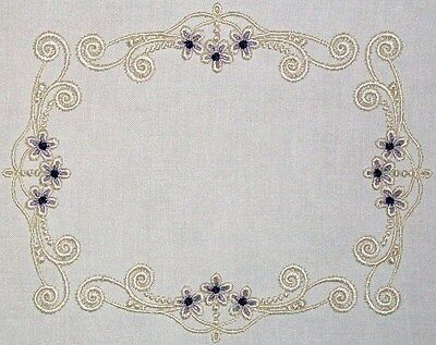 Elegant Scrolled Embroidered Quilt Label to Customize for quilt tops or blocks