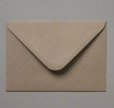50 C6 Recycled Brown Fleck Kraft Envelopes for A6 Wedding Cards FREE AUS P&P