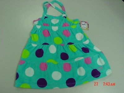 bee5f5cf23aec NWT Girls Aqua Polka Dot Beach Coverup Sun Dress Op Summer Swim Sleeveless
