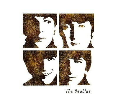 """STENCIL WALL STENCILS PATTERN 12.99""""x9.05"""" Airbrush TEMPLATE LARGE The Beatles"""