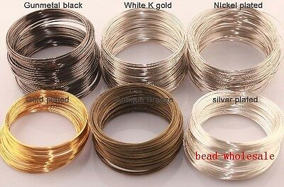 New 100/500loop Silver/Gold Plated Memory Steel Wire For Cuff Bangle Bracelet