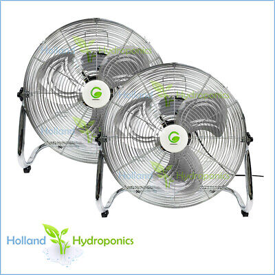 2x 500mm Ventilation floor fan CIRCULAR FAN Air Blower Hydroponic Grow Tent Kit