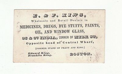 E. & F. King, Boston, dealer in medicines, drugs, dye stuffs, paints, oil, [4931