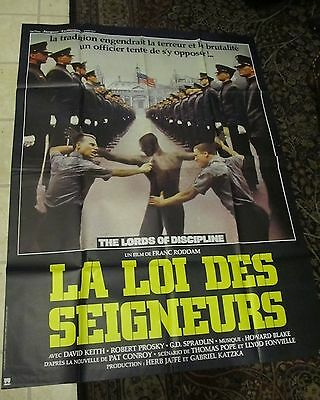 the lords of discipline rare movie poster military cadet