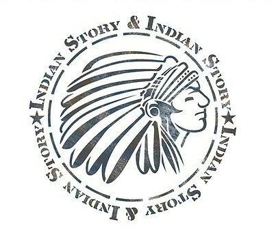 """STENCIL WALL STENCILS PATTERN 12.99""""x9.05"""" Airbrush TEMPLATE LARGE INDIAN"""