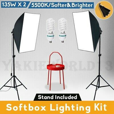 Photography Studio Softbox Lighting 1350W Photo Video Soft Box Light Stand Kit