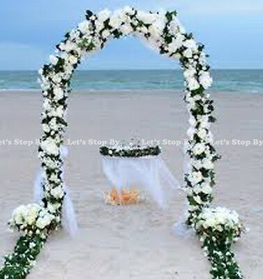 7.5 FT WHITE METAL ARCH for Wedding Party Bridal Prom Garden Floral Decoration