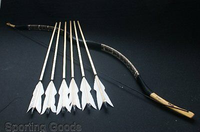 Useful Longbow made by Snakeskin set 15-80# Bow Recurve bow+ String+6 arrows
