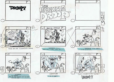 Droopy Genuine Hand Drawn Story Board