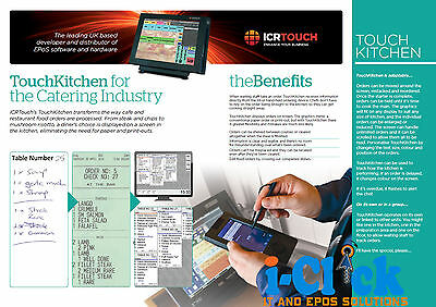 ICR Touch Kitchen Video Order System Hanasis HS-FLS10 15' Screen Wall Mountable