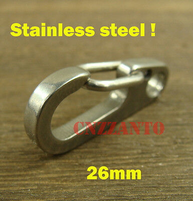 """1"""" Deep polishing Stainless steel Carabiner Spring Snap Hook Clip Paragliding"""
