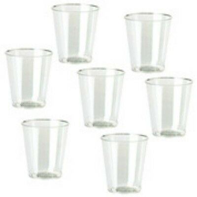 1000 x 2cl Plastic Clear Shot Glass  Cups Portion Sample Taster Pots Clear