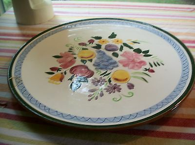 vintage STANGL Fruit and Flowers 14-1/2 inch large round platter repaired fair