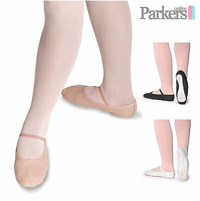 Special Offer Sale New Roch Valley Girls And Ladies Pink Leather Ballet Shoes