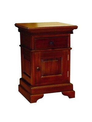 Mahogany  Bedside Cabinets-1 Drawer/cupboard-Left & Right-Solid Wood