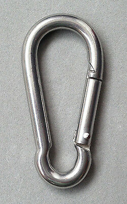 5pcs M6 Stainless steel Quick Link Carabiner Spring Snap Hook Clip 6mm