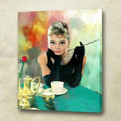 Audrey Hepburn Giclee Canvas Print, Gallery Wrapped Art !