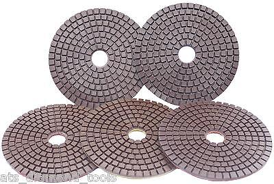 "Premium 100mm (4"") Copper bonded Diamond Polishing pads granite marble concrete"