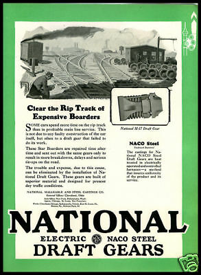 1928 vintage ad for National Electric Draft Gears