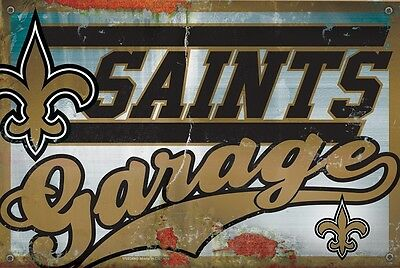 Nfl New Orleans Saints Garage Sign