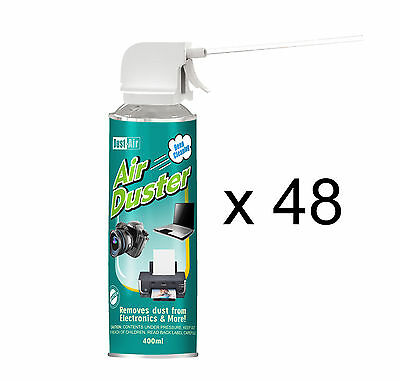 48 x 400ml Compressed Air Duster Cleaner Can Canned Laptop Keyboard Mouse