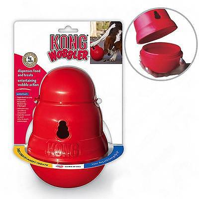 Kong Wobbler Dog Treat Dispenser Chew Toy - 2 sizes- Anti Gulp Slow Feed Bowl