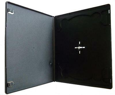 50 x 7mm Single Half Size Slim Black DVD CD Case Cases Clear Cover Sleeve