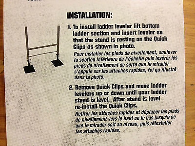 Ameristep Grizzly Ladder Stand Leveler Fits All Safely