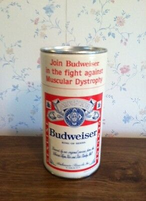 New Nos Vintage Budweiser Mda Pos Donation Can Bud Light Free Us Shipping!!!