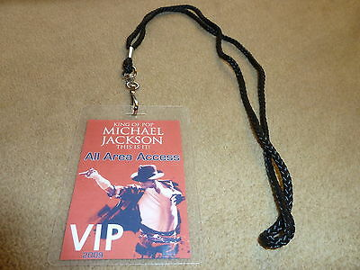 Michael Jackson This Is It 2009 Tour  Vip All Access Backstage Pass With Lanyard
